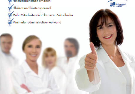 Flyer für Infektionsprävention des Deutschen Beratungszentrum für Hygiene