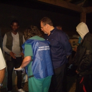 Picture of Dr. Santino Severoni with Refugees