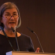 Picture of Dr. Petra Gastmeier (Charité Berlin) speaking at the Semmelweis CEE Conference 2017