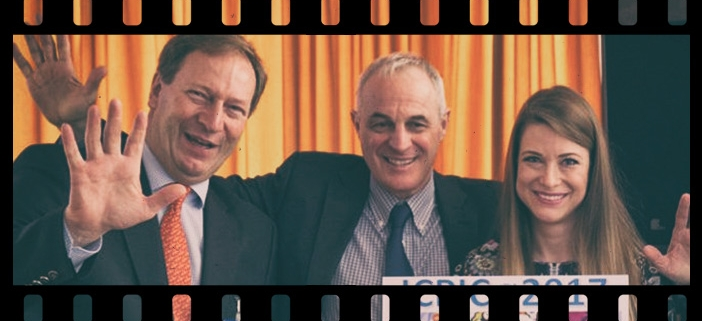 Picture of Borbála Szél, Bernhard Küenburg and Didier Pittet at ICPIC 2017