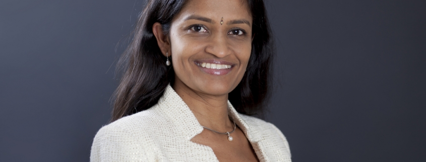 Portrait of Jayasree K. Iyer, Executive Director of the Access to Medicine Foundation