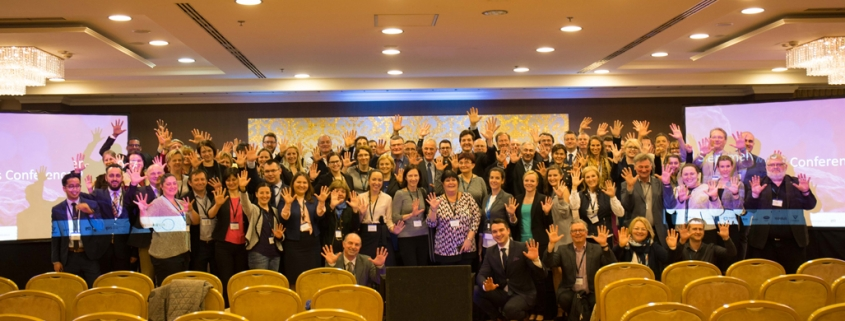 Participants at the 2nd CEE Conference on hospital Hygiene and Patient Safety in 2017 on stage