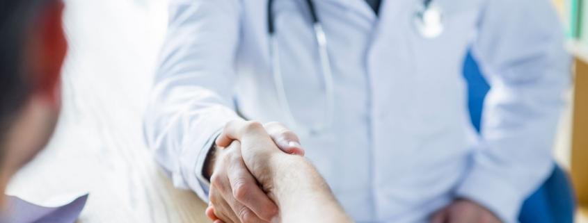 Hand-shaking doctor