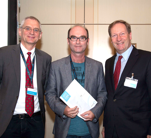 From left: Franz Allerberger, Jan Belohlavek, Bernhard Küenburg – First CEE Conference on Hospital Hygiene and Patient Safety 2015